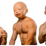 creepy baby head masks for sale