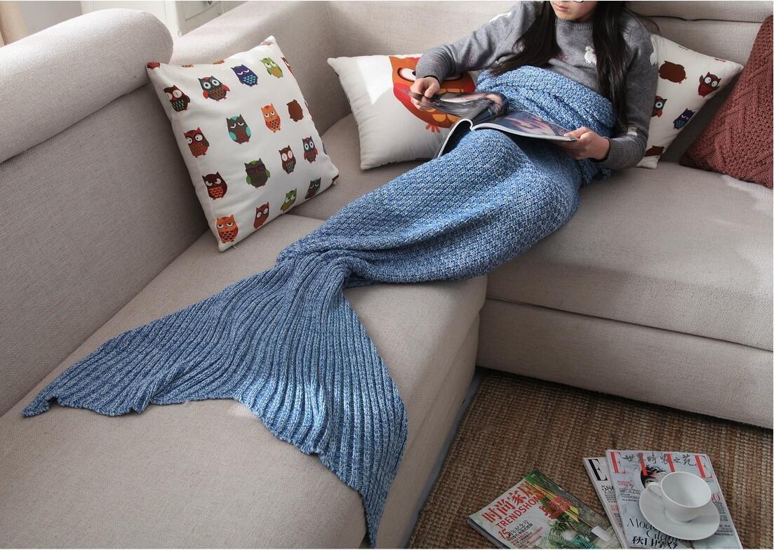 mermaid -tail-blanket