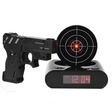 Lock N' Load Target Alarm Clock With Gun