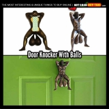 Show The World Your Balls With The BRONZED DOOR KNOCKER WITH BALLS