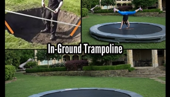Get Your Bounce on With This Cool In-Ground Trampoline