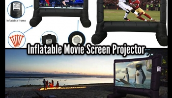 Hold A Unique Movie Experience At Home With This INFLATABLE MOVIE SCREEN PROJECTOR