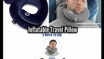 Rest Your Head With The INFLATABLE TRAVEL PILLOW