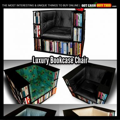 Keep Your Books In Close Reach With This LUXURY BOOKCASE CHAIR