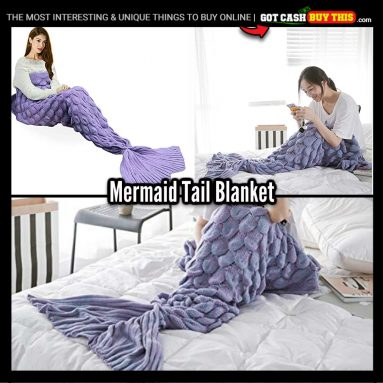 Enjoy A Lil Bit Of Luxe And A Lil Bit Of Fantasy With A MERMAID TAIL BLANKET