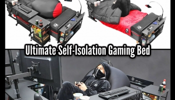 Self-Isolate In Comfort With This ULTIMATE GAMING BED