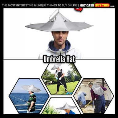 Keep Your Noggin Dry And Your Hands-Free With This UMBRELLA HAT
