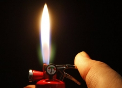 Miniature Fire Extinguisher Lighter With LED Light